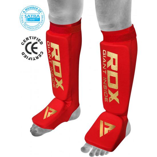 RDX Hosiery Shin Instep FoamRood - Maat: L