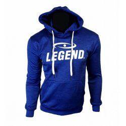Hoodie dames/heren trendy Legend design Blauw - Maat: L