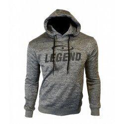 Hoodie dames/heren trendy Legend design Grijs - Maat: L