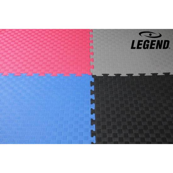 Legend Puzzelmat sport 2CM Zwart/Grijs - Default