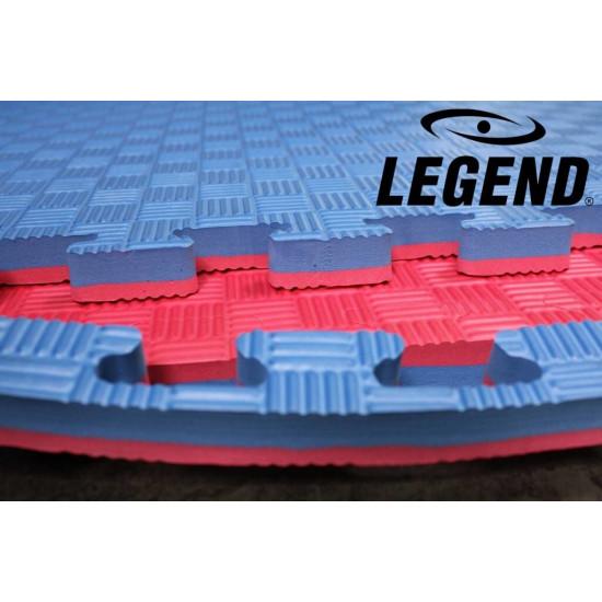 Legend Puzzelmat sport 2CM Blauw/Rood - Default