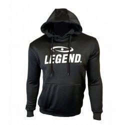 Hoodie dames/heren trendy Legend design zwart - Maat: L